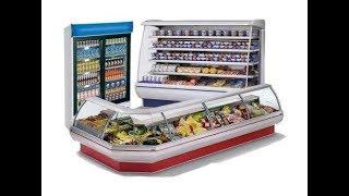 Холодильное оборудование для магазина. Демонстрация воздушных потоков в холодильной горке.