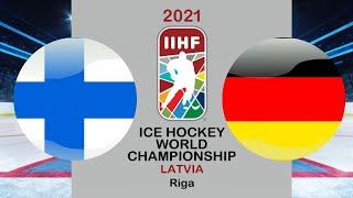 Хоккей Финляндия Германия Чемпионат мира по хоккею 2021 в Риге период 2