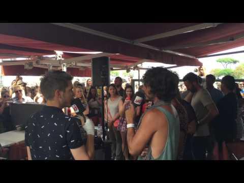 Interview NRJ Frero Delavega - La Rochelle 13/07/2015