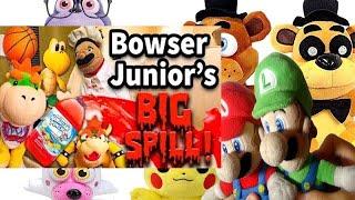 SML Movie: Bowser Junior's Big Spill! Mario and Luigi Reaction(Freddy,Foxy,MrBonnie,Pikachu,Mangle)