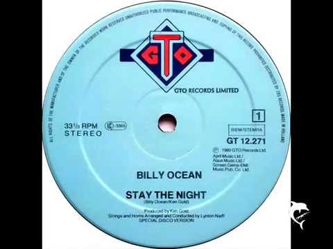 BILLY OCEAN - STAY THE NIGHT - EXTENDED 12'' - 1980