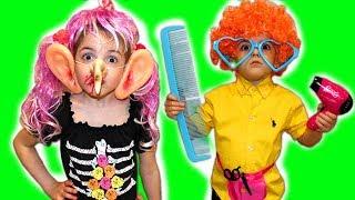 Vania and Mania play make up toys