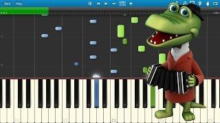 Пусть бегут неуклюже - Песенка Крокодила Гены (на пианино Synthesia)