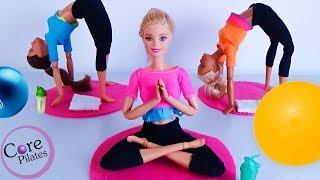 Барби занимается ПИЛАТЕСОМ! Видео для детей. Челси ПРОУЧИЛА за Билли!