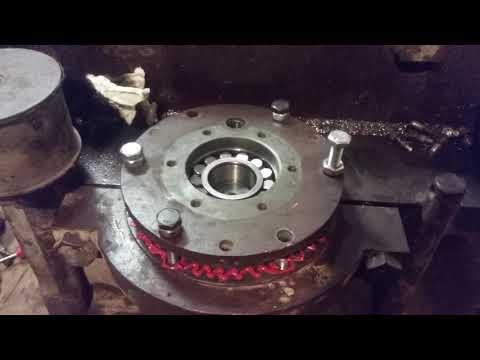 Ремонт виброплиты 200 кг, замена подшипников