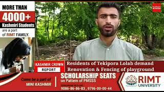 Residents of Tekipora Lolab demand Renovation & Fencing of playground