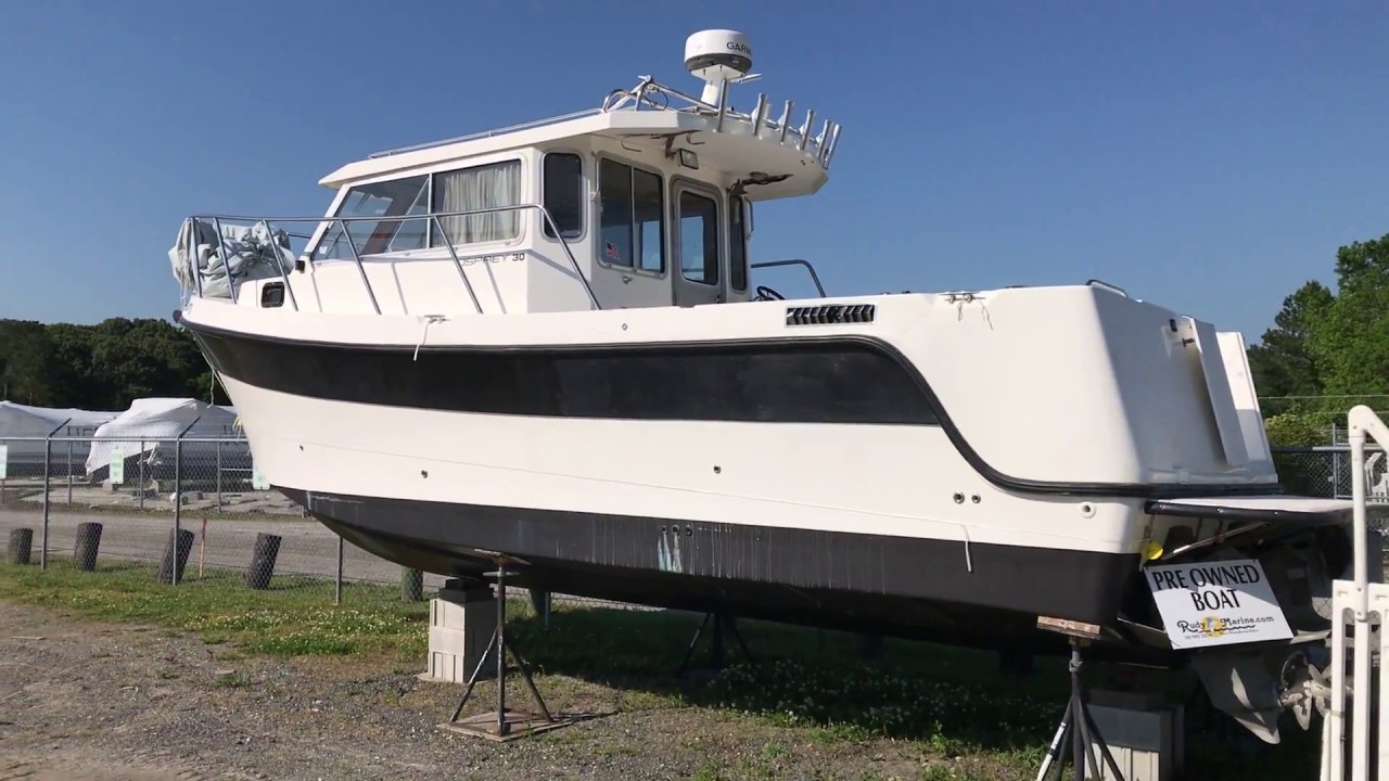 Drift Boat For Sale >> Used 2001 Osprey 30 Pilothouse For Sale - YouTube