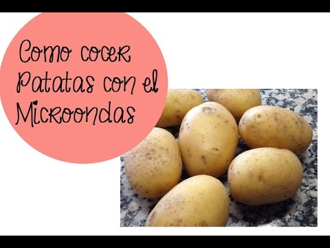 C mo cocer patatas en el microondas youtube for Cocinar microondas