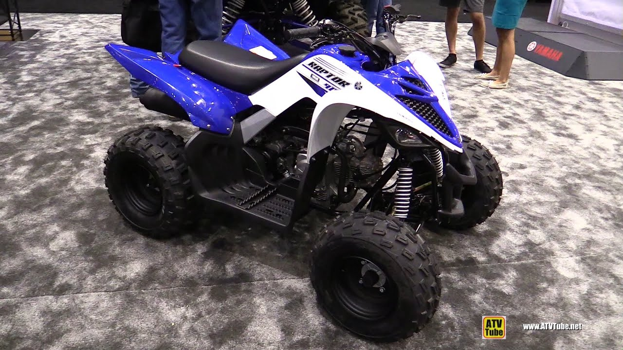 2016 yamaha raptor 90 sport atv walkaround 2015 aimexpo orlando youtube. Black Bedroom Furniture Sets. Home Design Ideas
