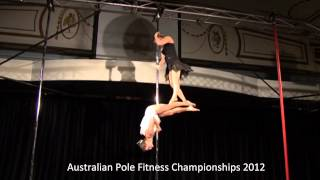 Australian Pole Fitness Championships 2012 - 2nd Place Open Mixed Pairs Division (Enchanted)