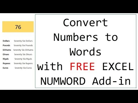 Convert Numbers to Words/Text in Excel WITHOUT pasting macros again