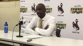 Wyoming coach Allen Edward discusses CSU win, Justin James' career game