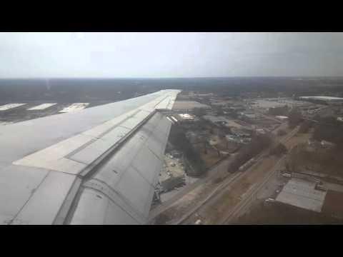 Delta Air Lines MD-88 Landing at Hartsfield-Jackson Atlanta International Airport