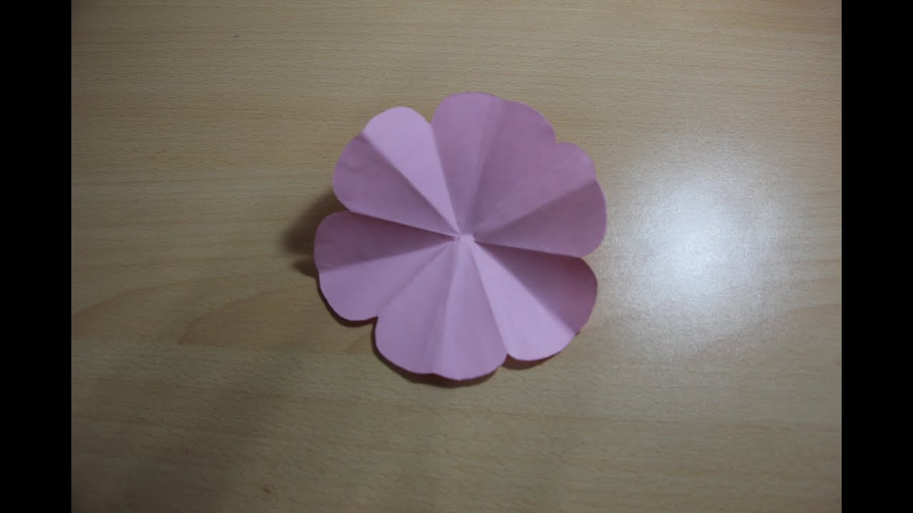 Origami Flower Krigami Youtube