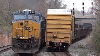 CSX Freight Trains Meet In West Baltimore