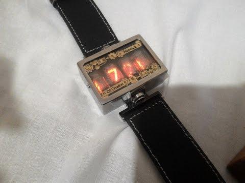 Смотреть видео Наручные часы Неоника - NeoNika - NIXIE tube Watch Clock  онлайн, скачать на мобильный. 13c9aab3ce6