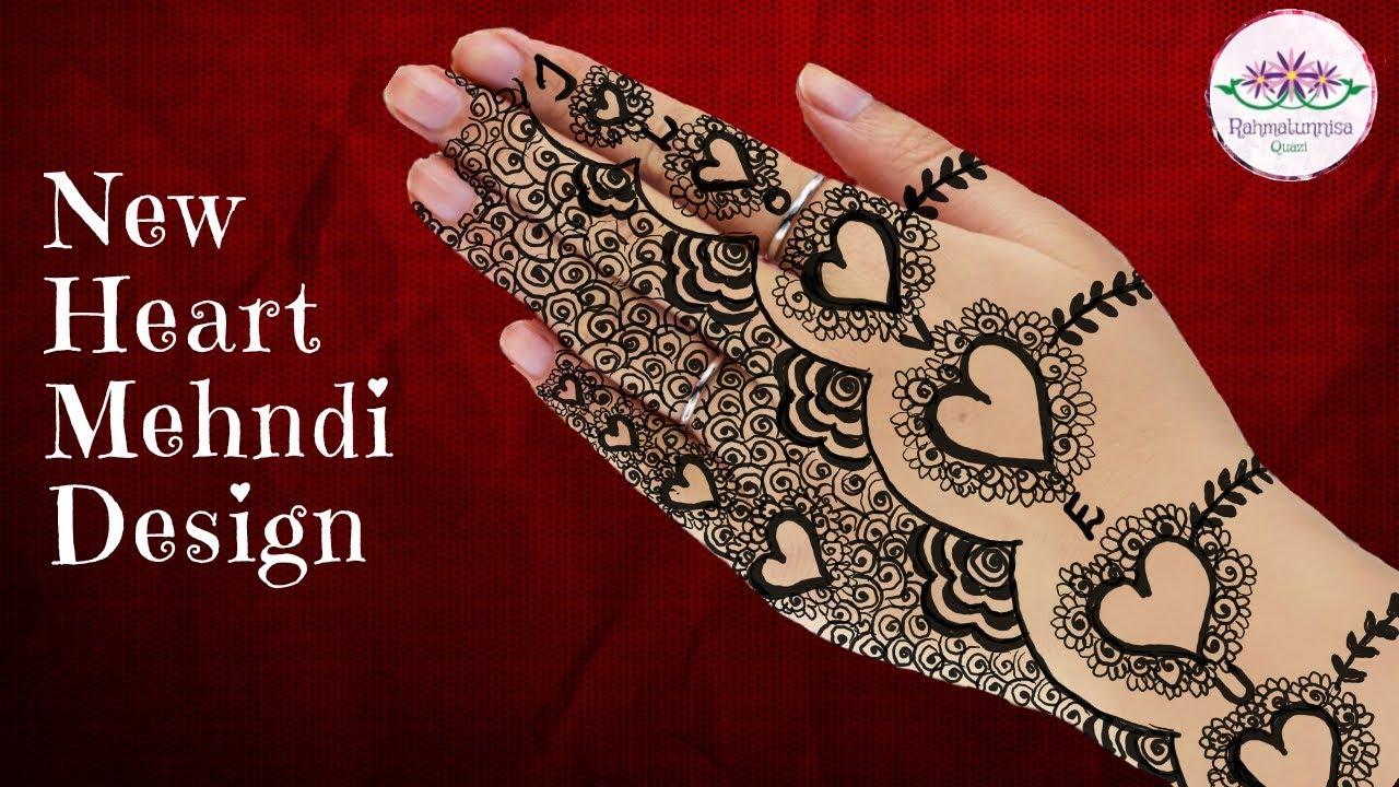 New Heart Mehndi Designs For Hands Love Heart Henna Love Mehndi