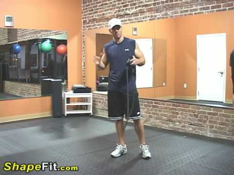 Resistance Bands Exercises For Arms Standing Triceps