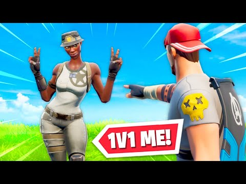 I Found The RAREST Skin In Fortnite And 1V1'd Them!