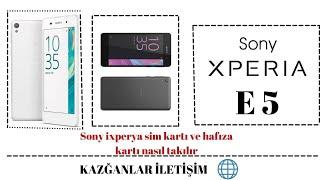 Sony ixperya sim kartı ve hafıza kartı nasıl takılır