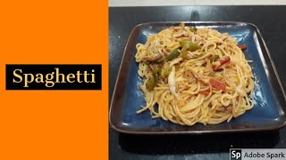 Spaghetti with vegetables & chicken Recipe