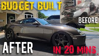 Building a Toyota Supra in 20 minutes *giving this mk4 Supra a second chance*