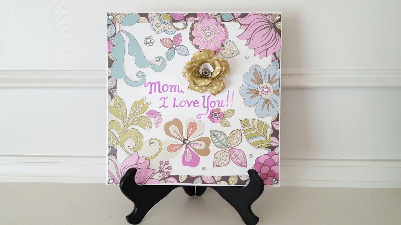 Mother S Day Gift Idea Mod Podge Ceramic Tile Youtube
