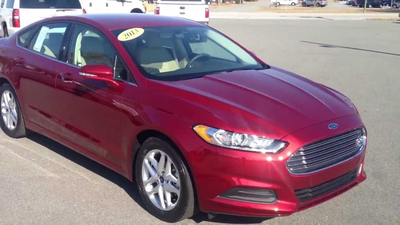 All New 2013 Ford Fusion Se Ruby Red Youtube