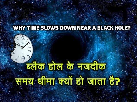 Why Time Slows Down Near a Black Hole? -ब्लैक होल के नजदीक समय धीमा क्यों हो जाता है?