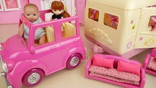 Baby doll camping car toys baby Doli picnic play thumbnail