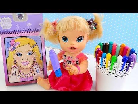 Куклы Пупсики Раскраска  Учим Цвета Рисуем Водой Как Мама Развивающий Мультик для детей