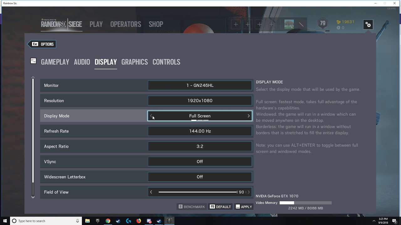 Rainbow Six Siege game wont go into fullscreen fix