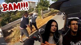 Er haut den Motorradfahrer! | Reaktion mit Anica