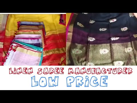 d080a695dd9c85 linen saree | manufacture, low price - YouTube