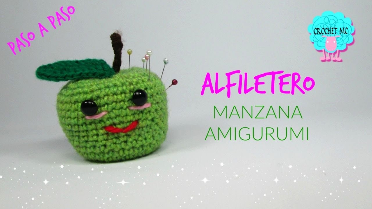 Tutorial manzana alfiletero/ amigurumi - YouTube