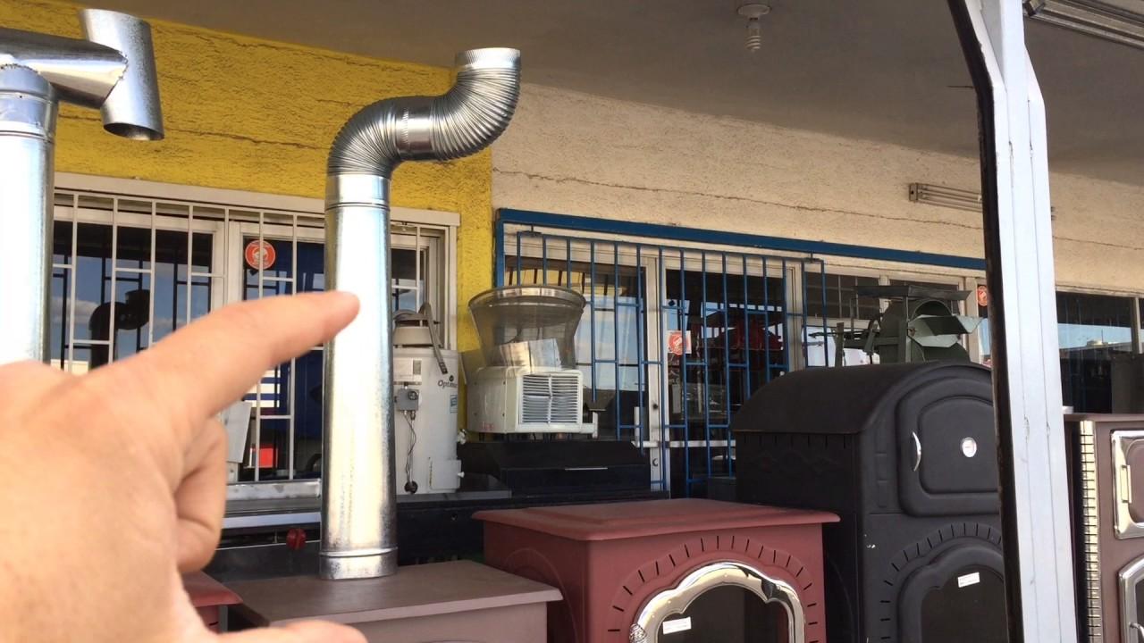 Accesorios para instalar el tiro de una chimenea o estufa - Chimenea de pared ...