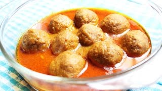 Chicken Kofta Curry Or Chicken Meat Balls Curry - Indian Style