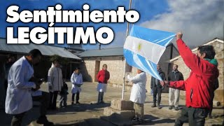 Escuela Rural del Cerro Champaquí: El momento más emotivo, Izar la BANDERA ARGENTINA!