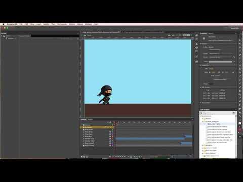 Animate CC - Adding Button Actionscript