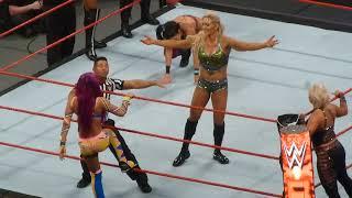 Bayley/Sasha Banks/Dana Brooke vs Charlotte/Nia Jax/Emma at WWE Raw