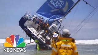 WATCH: Racing Yacht Runs Aground | NBC News