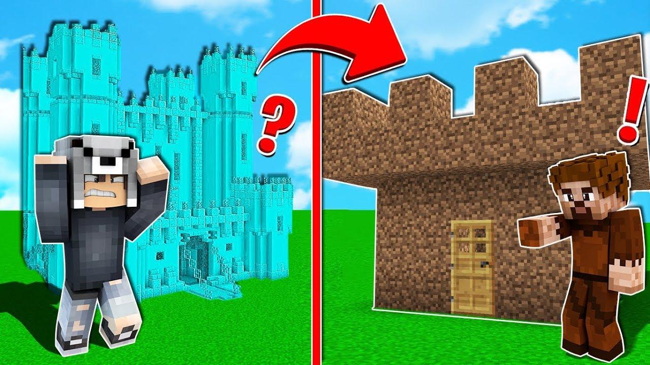Zengin Kalesi Vs Fakir Kalesi Minecraft Youtube