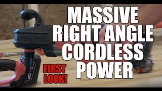 Milwaukee Brushless M18 Cordless Hole Hawg Right Angle Drill - 2014 First look