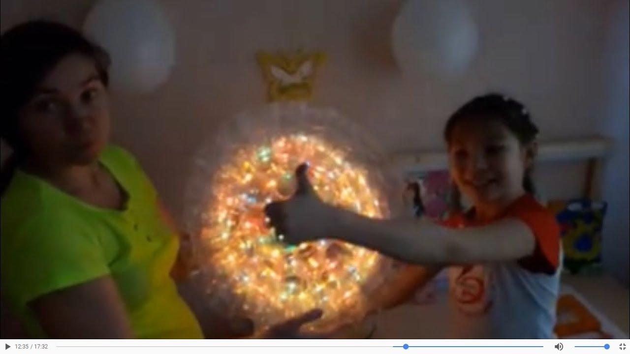 Собираем диско шар своими руками, цветомузыка из стаканчиков !!!!