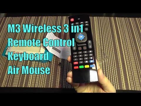 M3 Wireless 3 In1 Remote Control, Keyboard & Gyro Air Mouse