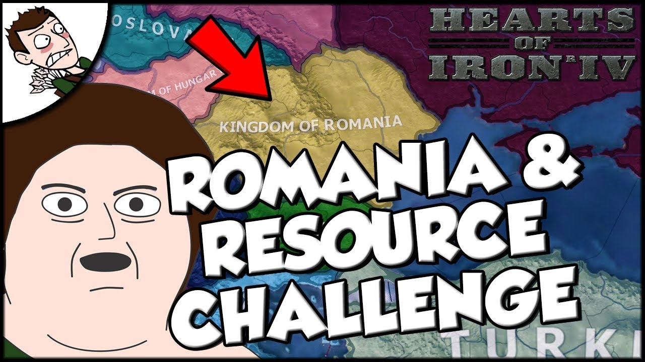 Hearts of Iron 4 hoi4 Romania and Resource Mod Challenge