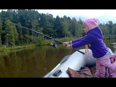 Рыбалка с детьми на озере с ночевкой. Мотор MTR 15 лс. 2т
