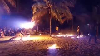 Hotel RIU Montego Bay, Jamaica - Beach party fireshow