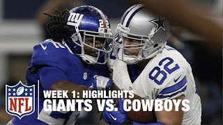 Giants vs. Cowboys | Week 1 Highlights | NFL