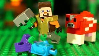 НУБ против Крипера Мультфильм Майнкрафт Все Серии Подряд Лего Лаки Блоки Троллинг Minecraft